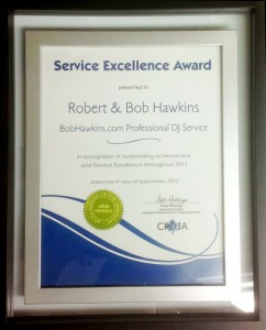 BobHawkins.com CPDJA Customer Service Excellence Award