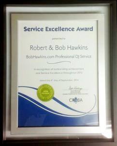 BobHawkins.com CPDJA Customer Service Excellence Award